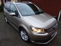 2014 VOLKSWAGEN TOURAN 1.6 SE TDI BLUEMOTION TECHNOLOGY 5d 103 BHP Awesome Clean £12750.00
