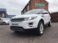 USED 2012 12 LAND ROVER RANGE ROVER EVOQUE 2.2 TD4 PURE 5d 150 BHP Comes with 6 months warranty
