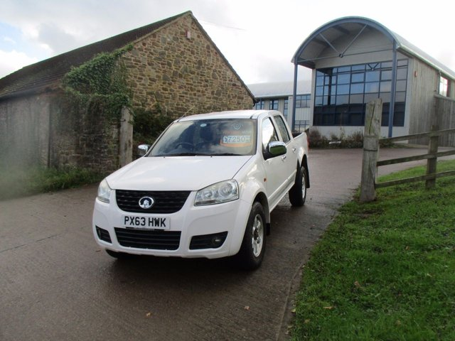 2013 63 GREAT WALL STEED 2.0 TD S 4X4 DOUBLE CAB  4 WHEEL DRIVE 142 BHP NO VAT