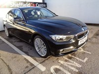 USED 2013 62 BMW 3 SERIES 2.0 320D LUXURY 4d AUTO 181 BHP £ 242 A MONTH FULL SERVICE HISTORY. SATELLITE NAVIGATION, FULL BLACK LEATHER,BLUETOOTH