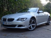 USED 2008 08 BMW 6 SERIES 3.0 630I SPORT 2d AUTO 269 BHP