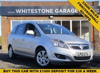 USED 2012 12 VAUXHALL ZAFIRA 1.7 DESIGN CDTI ECOFLEX 5d 108 BHP LOW MILEAGE TOP SPEC 7SEAT DIESEL WITH FULL VAUXHALL SERVICE HISTORY