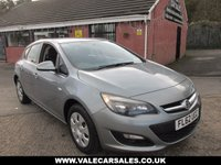 2012 VAUXHALL ASTRA 1.4 EXCLUSIV 5 dr £4990.00