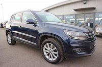 USED 2013 13 VOLKSWAGEN TIGUAN 2.0 SE TDI BLUEMOTION TECHNOLOGY 4MOTION 5d 138 BHP LOW DEPOSIT OR NO DEPOSIT FINANCE AVAILABLE.