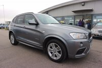 USED 2011 61 BMW X3 2.0 XDRIVE20D M SPORT 5d AUTO 181 BHP LOW DEPOSIT OR NO DEPOSIT FINANCE AVAILABLE.