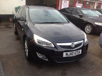 USED 2010 10 VAUXHALL ASTRA 1.6 SE 5d 177 BHP 64000 miles, 6 speed, black, great spec,