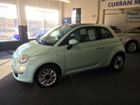 USED 2015 FIAT 500 1.2 LOUNGE 3d 69 BHP Stunning in Peppermint