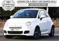 2013 FIAT 500 1.2 S 3d 69 BHP £5681.00