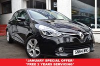 USED 2014 64 RENAULT CLIO 1.1 DYNAMIQUE MEDIANAV 5d 75 BHP STUNNING RENAULT CLIO PETROL WITH SAT NAV