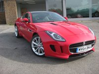 USED 2014 64 JAGUAR F-TYPE 3.0 V6 2d AUTO 340 BHP Panoramic Glass Sunroof, Full Jaguar Service History. Red Full Black Leather. Navigation. Electric seats +++