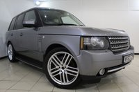 USED 2012 62 LAND ROVER RANGE ROVER 4.4 TDV8 WESTMINSTER 5DR 313 BHP HEATED LEATHER SEATS + SAT NAVIGATION + REVERSE CAMERA + DVB-T DIGITAL TV TUNER + BLUETOOTH + CRUISE CONTROL + MULTI FUNCTION WHEEL + ELECTRIC SUNROOF + 20 INCH ALLOY WHEELS