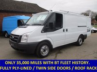 2011 FORD TRANSIT 300s SWB ONLY 35,000 MILES DIRECT FROM BT FLEET WITH FULL HISTORY £6845.00