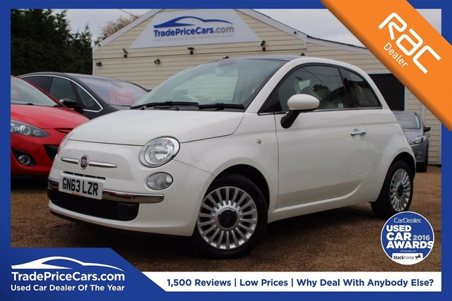 View our 2013 63 FIAT 500 1.2 LOUNGE 3d 69 BHP