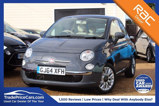 View our 2014 64 FIAT 500 0.9 TWINAIR LOUNGE 3d 85 BHP