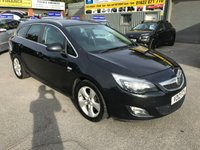 USED 2012 12 VAUXHALL ASTRA 1.7 SRI CDTI 5 DOOR 123 BHP ESTATE IN BLACK WITH A NEW FULL YEARS MOT APPROVED CARS ARE PLEASED TO OFFER THIS VAUXHALL ASTRA 1.7 SRI CDTI 5 DOOR 123 BHP ESTATE IN BLACK WITH A BLACK CLOTH INTERIOR IN IMMACULATE CONDITION INSIDE AND OUT WITH A NEW MOT AND A FULL SERVICE HISTORY A GREAT ESTATE CAR AND NEW SHAPE.