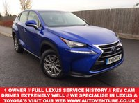 USED 2015 15 LEXUS NX 300H S ***** 1 OWNER // SATELLITE NAVIGATION // REVERSE CAMERA // FULL SERVICE HISTORY BY LEXUS DEALER // 2 KEYS //  *****