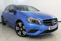 USED 2014 14 MERCEDES-BENZ A CLASS 2.1 A200 CDI SPORT 5DR AUTOMATIC 136 BHP FULL MERCEDES SERVICE HISTORY + HALF LEATHER SEATS + BLUETOOTH + CRUISE CONTROL + MULTI FUNCTION WHEEL + RADIO/CD + 17 INCH ALLOY WHEELS