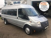 USED 2012 62 FORD TRANSIT 17 SEAT / SEATER MINIBUS 135BHP 1 OWNER METALLIC PAINT ULTRA LOW 26K MILES 1 SCHOOL CONTRACT OWNER