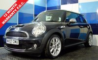 """USED 2007 07 MINI HATCH COOPER 1.6 COOPER S 3d 172 BHP A truely wonderful example of this much sought after iconic car .This car is massively over spec comming with the lounge leather interior plus full chilli pack  finished off with 17"""" split rimweb design  alloys that are totally unmarked ,the car comes fully serviced and with 12 months mot"""