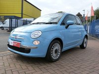 USED 2013 13 FIAT 500 1.2 LOUNGE 3d PANORAMIC ROOF ~ 1 OWNER ~ AIR CON ~ FULL HISTORY ~ BLUE&ME ~ CLIMATE CONTROL ~ ALLOYS