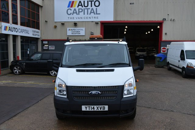 2014 14 FORD TRANSIT 2.2 350 DRW 2d 125 BHP XLWB RWD DIESEL MANUAL DROPSIDE LORRY ONE OWNER FULL S/H SPARE KEY