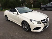 USED 2014 63 MERCEDES-BENZ E CLASS 2.1 E250 CDI AMG SPORT 2d AUTO 204 BHP NEW SHAPE AMG SPORT CONVERTIBLE IN WHITE WITH FULL BLACK LEATHER