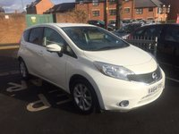 USED 2014 64 NISSAN NOTE 1.2 TEKNA DIG-S 5d AUTO 98 BHP TOP SPECIFICATION!!...EXCELLENT FUEL ECONOMY!!..LOW CO2 EMISSIONS..£30 ROAD TAX!...FULL HISTORY...ONLY 9459 MILES FROM NEW!!..WITH ALLOY WHEELS, LEATHER SUBSTITUTE, AND CLIMATE CONTROL.