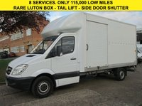 USED 2013 13 MERCEDES-BENZ SPRINTER 2.1 313CDI LWB LUTON BOX ELEC TAIL-LIFT. SIDE DOOR SHUTTER.  ONLY 115,000 MILES. FSH. 1 OWNER. FINANCE. PX WELCOME