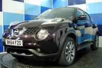"""USED 2014 64 NISSAN JUKE 1.6 TEKNA XTRONIC 5d AUTO 117 BHP A wonderful example of this much sought after family crossover finished in unmarked nightshde paintwork complemented with 17"""" two tone alloys this car is equiped with satelite navigation,cruise control ,full leather interior park assist via camera monitoring ,proximity alert and lane assist .A truely beautiful car to drive"""