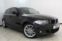 USED 2010 60 BMW 1 SERIES 2.0 118D M SPORT 5DR 141 BHP FULL BMW SERVICE HISTORY + HALF LEATHER SEATS + PARKING SENSOR + MULTI FUNCTION WHEEL + AUXILIARY PORT + CLIMATE CONTROL + 17 INCH ALLOY WHEELS