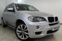 USED 2009 09 BMW X5 3.0 D M SPORT 5DR AUTOMATIC 232 BHP SERVICE HISTORY + HEATED LEATHER SEATS + SAT NAVIGATION PROFESSIONAL + PARKING SENSOR + REVERSE CAMERA + BLUETOOTH + CRUISE CONTROL + 19 INCH ALLOY WHEELS