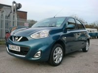 USED 2014 14 NISSAN MICRA 1.2 ACENTA 5d AUTO 79 BHP AUTOMATIC 1 OWNER 32,000 MILES SAT NAV F.S.H