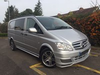 USED 2013 63 MERCEDES-BENZ VITO 3.0 122 CDI DUALINER SPORT-X AUTOMATIC LWB One Owner, Satellite Navigation, Full Leather