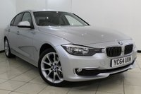 USED 2014 64 BMW 3 SERIES 2.0 320D LUXURY 4DR AUTOMATIC 184 BHP BMW SERVICE HISTORY + HEATED LEATHER SEATS + SAT NAVIGATION + PARKING SENSOR + BLUETOOTH + CRUISE CONTROL + MULTI FUNCTION WHEEL + 18 INCH ALLOY WHEELS