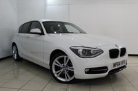 USED 2014 64 BMW 1 SERIES 2.0 116D SPORT 5DR 114 BHP BLUETOOTH + PARKING SENSOR + CRUISE CONTROL + MULTI FUNCTION WHEEL + AUXILIARY PORT + 17 INCH ALLOY WHEELS