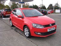 2013 VOLKSWAGEN POLO 1.2 MATCH EDITION 3d 59 BHP £6795.00