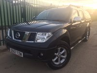 USED 2008 57 NISSAN NAVARA 2.5 AVENTURA DCI 4X4 SWB SHR D/C 1d 169 BHP CANOPY SAT NAV LEATHER NO VAT NO FINANCE REPAYMENTS FOR 2 MONTHS STC. NO VAT. 4WD. HARDTOP CANOPY. SATELLITE NAVIGATION. STUNNING GREY MET WITH FULL BLACK LEATHER TRIM. ELECTRIC HEATED SEATS, CARGO LINING. CRUISE CONTROL. AIR CON. SUNROOF. SIDE STEPS. 17 INCH ALLOYS. COLOUR CODED TRIMS. PRIVACY GLASS. PARKING SENSORS. ROOF RAILS. BLUETOOTH PREP. PAS. R/CD PLAYER. MFSW. TOWBAR. MOT 06/18. SERVICE HISTORY. TEL 01937 849492