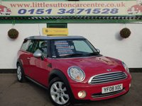 USED 2008 08 MINI CLUBMAN 1.6 COOPER 5d 118 BHP LOW MILEAGE, 12 MONTHS MOT, FINANCE AVAILABLE