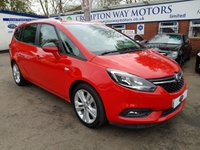 USED 2016 66 VAUXHALL ZAFIRA TOURER 1.4 SRI 5d 138 BHP 0% AVAILABLE ON THIS CAR PLEASE CALL 01204 317705