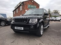 USED 2016 16 LAND ROVER DISCOVERY 3.0 SDV6 LANDMARK 5d AUTO 255 BHP 2 years manufactures warranty