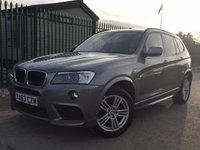 USED 2014 63 BMW X3 2.0 XDRIVE20D M SPORT 5d AUTO 181 BHP PAN ROOF LEATHER PRIVACY NO FINANCE REPAYMENTS FOR 2 MONTHS STC. 4WD. PANORAMIC SUNROOF. STUNNING GREY WITH FULL BLACK LEATHER SPORT TRIM. HEATED SEATS. CRUISE CONTROL. 18 INCH ALLOYS. COLOUR CODED TRIMS. PRIVACY GLASS. PARKING SENSORS. REVERSING CAMERA. BLUETOOTH PREP. CLIMATE CONTROL. R/CD PLAYER. MFSW. MOT 11/18. ONE PREV OWNER. SERVICE HISTORY. FCA FINANCE APPROVED DEALER. TEL 01937 849492