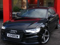 USED 2013 63 AUDI A6 AVANT 2.0 TDI S LINE BLACK EDITION 5d AUTO 177 S/S UPGRADE MANUAL TOWING EQUIPMENT, SAT NAV, BLUETOOTH PHONE & MUSIC STREAMING, DAB RADIO, BOSE SOUND SYSTEM, LED XENON LIGHTS, HEADLAMP WASHERS, BLACK ROOF RAILS, BLACK GRILLE OPTIC, DE-CHROMED WINDOW SURROUNDS, 20 INCH 5 SPOKE ROTOR ALLOYS, PRIVACY GLASS, ELECTRIC TAILGATE, FRONT & REAR PARKING SENSORS WITH DISPLAY, TWIN EXHAUST, FULL BLACK LEATHER, LEATHER TIPTRONIC MULTI FUNCTION STEERING WHEEL, CRUISE CONTROL, 1 OWNER FROM NEW, FULL AUDI SERVICE HISTORY