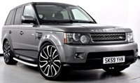 """USED 2009 59 LAND ROVER RANGE ROVER SPORT 3.0 TD V6 HSE 5dr Auto Rear DVD's, Privacy, New 22""""s"""