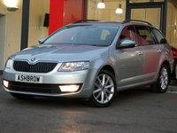 USED 2014 14 SKODA OCTAVIA ESTATE 2.0 TDI CR ELEGANCE 5d 150 S/S £20 TAX, 1 OWNER FROM NEW, NAV, DAB, PARKPILOT REAR PARKING SENSORS W/ DISPLAY, BLUETOOTH W/ AUDIO STREAMING, CRUISE, ELECTRIC POWER FOLDING MIRRORS, DRIVING MODE SELECTION, USB + AUX INPUT, AUTO LIGHTS + WIPERS, AUTO DIMMING REAR VIEW, VOICE COMMAND, 17 IN 10 SPOKE ALLOYS, LEATHER MULTI FUNCTION STEERING WHEEL, VOICE COMMAND, COLOUR DIS TRIP COMPUTER W/ DIGITAL SPEED DISPLAY, HALOGEN DRLS, FRONT FOGS, TYRE PRESSURE MONITORING SYSTEM, REAR MUD FLAPS, HEIGHT ADJUSTABLE FRONT SEATS, VAT Q