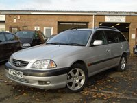 USED 2001 Y TOYOTA AVENSIS 2.0 CDX VVT-I 5d AUTO 148 BHP AUTO ESTATE+GOOD SERVICE HISTORY