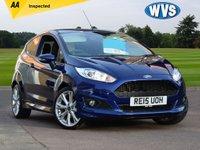 2015 FORD FIESTA 1.0 ZETEC S 3d 124 BHP £9699.00