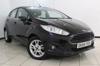 USED 2014 64 FORD FIESTA 1.0 ZETEC 5DR 99 BHP FULL SERVICE HISTORY + PARKING SENSOR + BLUETOOTH + MULTI FUNCTION WHEEL + AUXILIARY PORT + 15 INCH ALLOY WHEELS