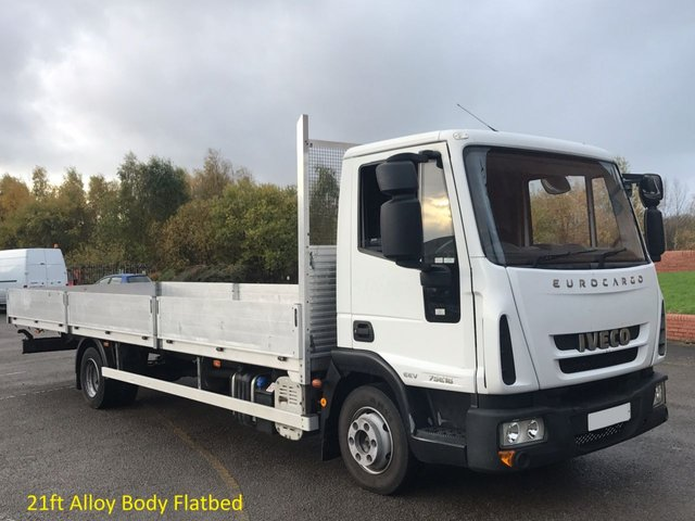 2010 10 IVECO-FORD EUROCARGO 3.9 75E16 Dropside-Flatbed 21ft Alloy Body [ Low Mileage ] Free UK Delivery