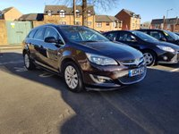 USED 2014 14 VAUXHALL ASTRA 2.0 ELITE CDTI 5d AUTO 163 BHP TOP SPECIFICATION WITH LEATHER TRIM, CLIMATE CONTROL, AND 17 INCH ALLOY WHEELS!!..EXCELLENT FUEL ECONOMY!!..LOW CO2 EMISSIONS(154G/KM)..LOW ROAD TAX...FULL HISTORY..ONLY 19591 MILES FROM NEW!!