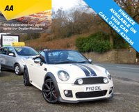 "USED 2012 12 MINI ROADSTER 1.6 COOPER 2d 120 BHP JCW  WITH OVER £10000 WORTH OF FACTORY FITTED EXTRAS, THIS IS A SPECIAL CAR! 18"" JCW ALLOY WHEELS, HEATED FULL LEATHER SEATS"